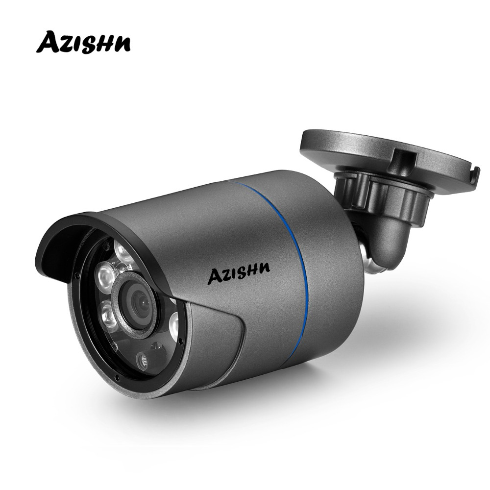 AZISHN H.265 Metal IP Camera 25FPS 2MP 1080P ONVIF Motion Detection IP66 Outdoor Night Vision RTSP XMEye Security CCTV Camera
