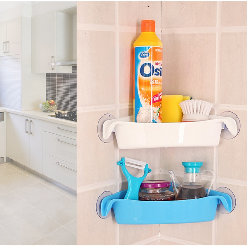 Bathroom Racks Kitchen Holder Toilet Corner Storage Rack 4 Colors Colorful Wall Mounted Multi-Strong Sucker