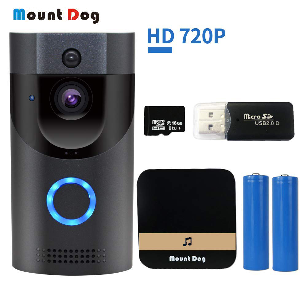 Smart intercom Video Doorbell Camera Wireless Door Bell 720P HD Home Security wifi doorphone