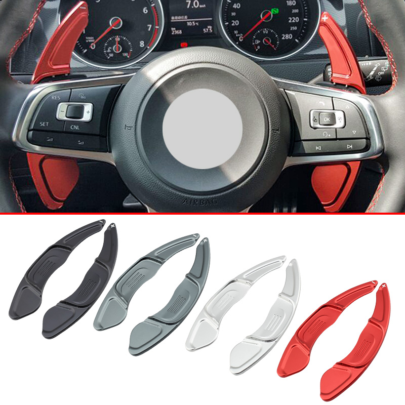 Styling Car Steering Gear Wheel di Estensione Paddle Shifter Per Volkswagan Golf7 R GTI R-Linea Polo GTI Scirocco Arteon accessoriStyling Car Steering Gear Wheel di Estensione Paddle Shifter Per Volkswagan Golf7 R GTI R-Linea Polo GTI Scirocco Arteon accessori