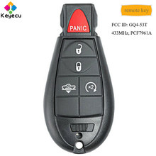 KEYECU OEM Replacement Remote Control Car Key With 5 Button 434MHz PCF7961A Chip - FOB for Dodge RAM 1500 2013-2018 FCC: GQ4-53T(China)
