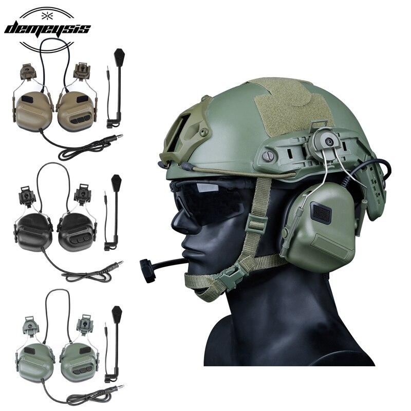 Высокое качество армия тактическое для охоты для стрельбы гарнитуры военный шлем страйкбол Пейнтбол гарнитура оптический охотничий прице...