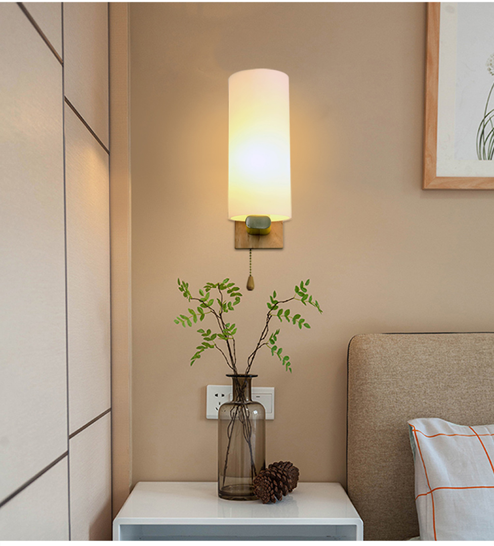 minimalist lighting. Wall Lamp Solid Wood Minimalist Entrance Hallway Light Modern Decoration Cafe Bar Industrial Lighting Fixtures -in LED Indoor Lamps From M