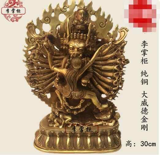 ทองแดงพุทธ Bronze Phurpa Vajrakilaya Dorje Phurba พระพุทธรูปรูปปั้น