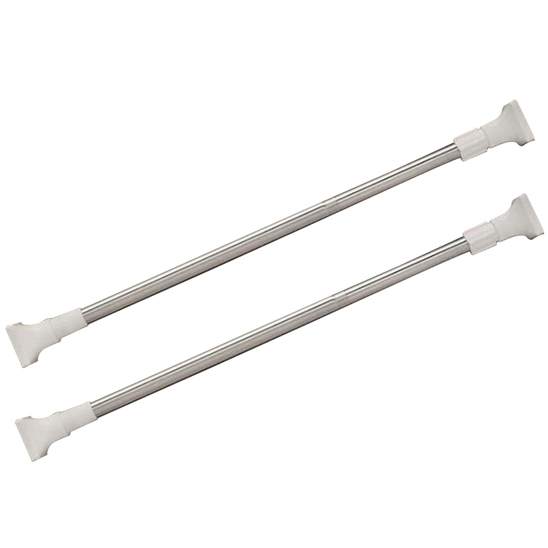 New Stainless Steel Adjustable Spring Tension Curtain Rod Pole ...