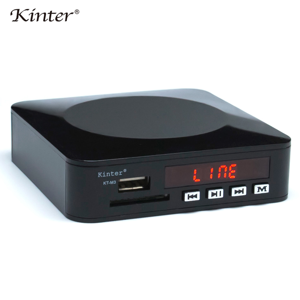 Kinter M3 мини стерео усилитель 12V SD USB ввод для аудио видео играть MP3 MP5 Формат Адаптер питания с дистанционным управлением