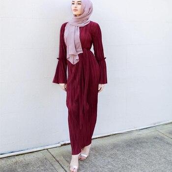 24e7cbdc99 Plus tamaño Vestidos de Thinkstock Abaya Dubai Kaftan largo vendaje falda  Hijab musulmán vestido de las mujeres árabes Turquía de oración islámica  ropa