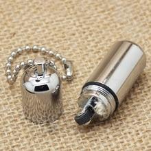 100pcs/lot Survival Waterproof cigarette cigar lighter Refillable Oil peanut lighter chain Key Chain encendedores de cigarrillos