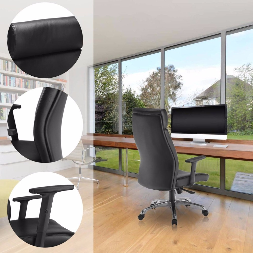 все цены на 360 Degree Swivel High Back Office Chair Adjustable Height Executive Computer Chair Ergonomic Home Office Furniture онлайн