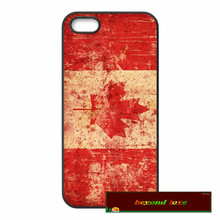 Capa Canada FLAG Case For iPhone 7 4 4s 5 5s SE 5c 6 6 Plus Mobile Phone Cover #SE56(China)