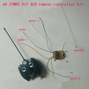 DIY RC Toys 4CH 27MHZ Remote Controller Kit 4.5V/5.5V/6V/7.2V 4A High Power Receiver Board 20M Controlling Distance Transmitter(China)