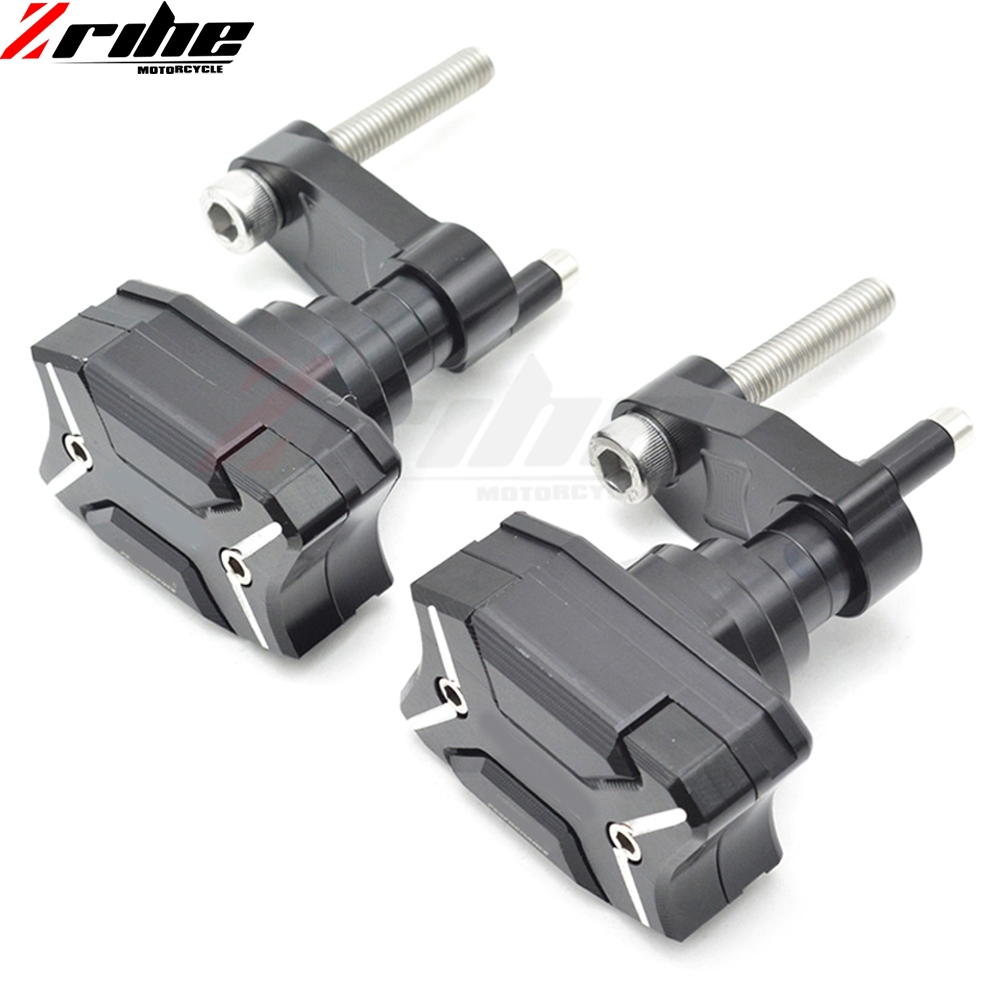 For BMW S1000RR 10-15 11 12 13 14 2010-2015 2011 2012 2013 2014 1 Pair CNC Frame Sliders Crash Pad Cover Falling Protector Guard