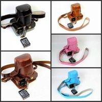 PU Leather Camera Case For FujiFilm Fuji X M1 X A1 X A2 XM1 XA1 XA2 Camera Bag Cover With Battery Opening + strap