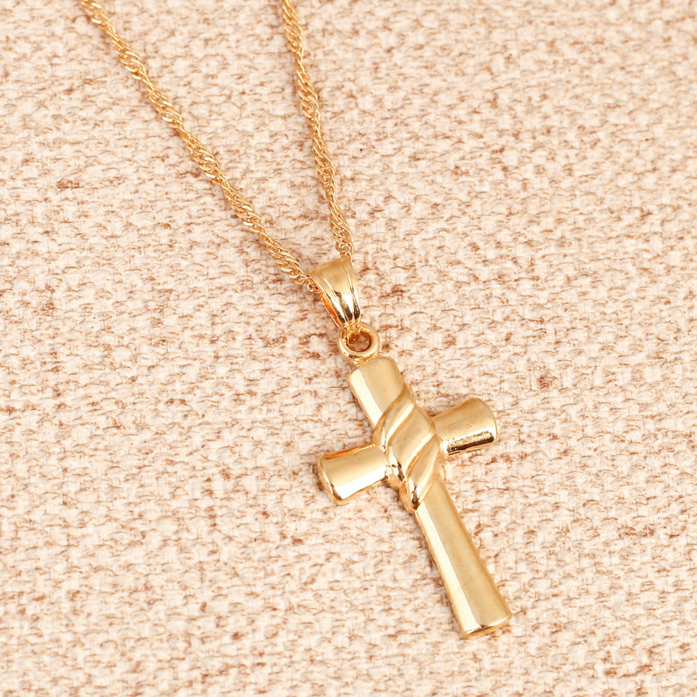 online necklace products pendant uk shop small gold cross