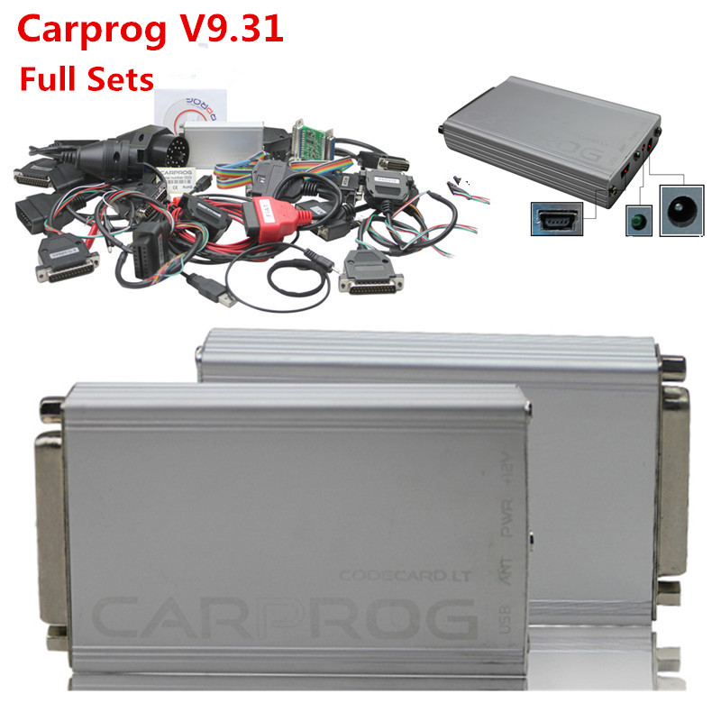 2016 CarProg V9 31 With Full Set Adapters Carprog Full Package With 21 Full Adapters Support