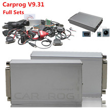 2016 CarProg V9.31 Con Adaptadores del Sistema Completo Paquete Con 21 Adaptadores Soporte Completo Airbag Restablecer Carprog Del Prog Del Coche 9.31