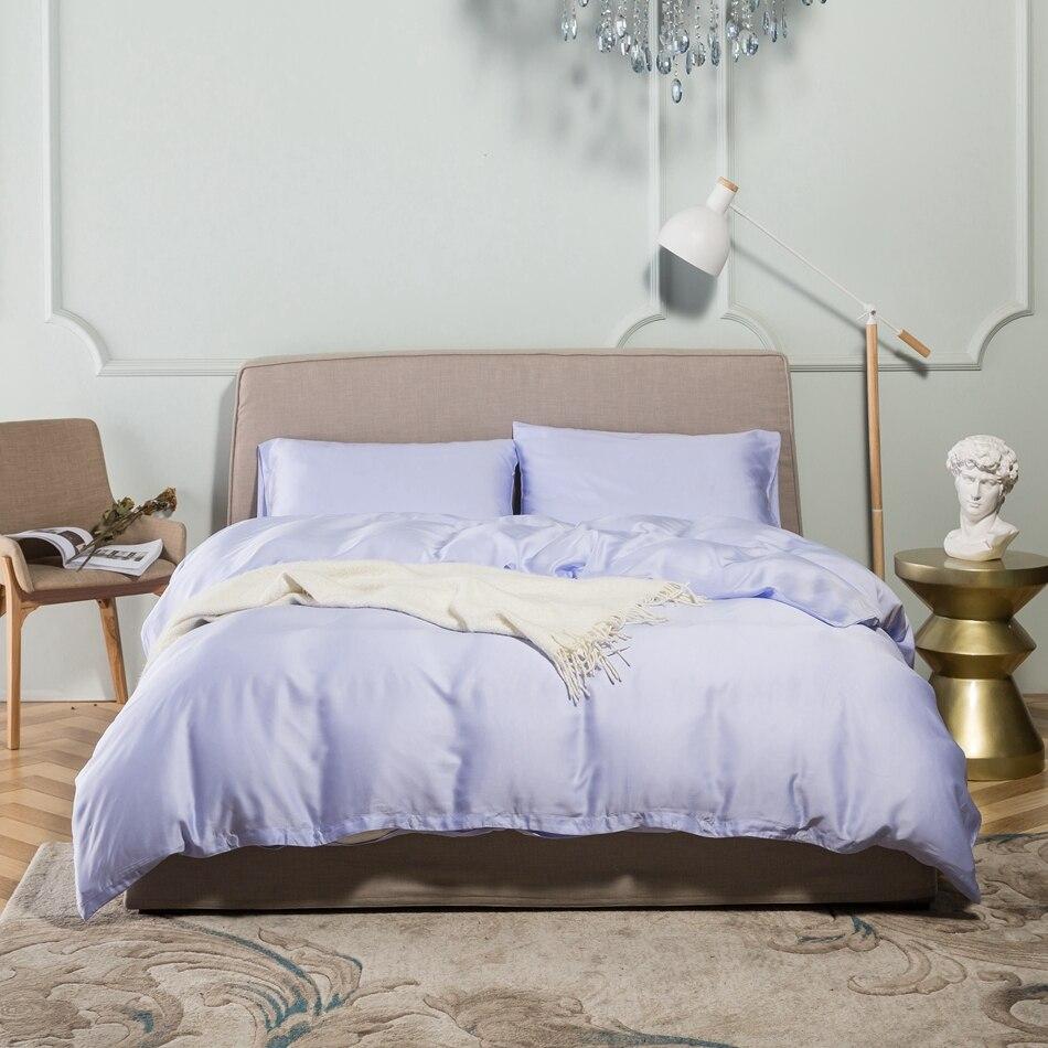 Light purple bed sets - Light Purple Tencel Duvet Cover Set Queen King Multi Size Bedding Set For Adults