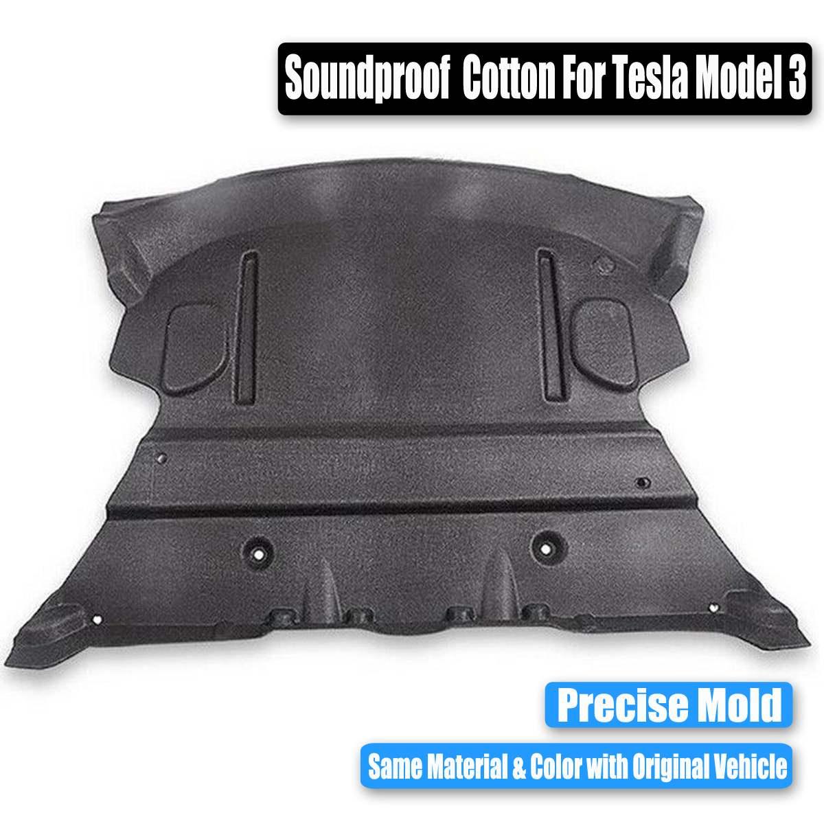 Nouveau tapis de protection insonorisé en coton pour coffre arrière pour voiture Tesla modèle 3 - 6