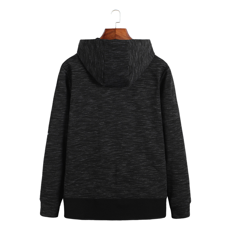 plus size 8XL 7XL Spring Men Fleece Hoodies Jacket Mens Contrast Color Slim Zipper Pocket Sweatshirt Casual Autumn Hooded Coat - 2