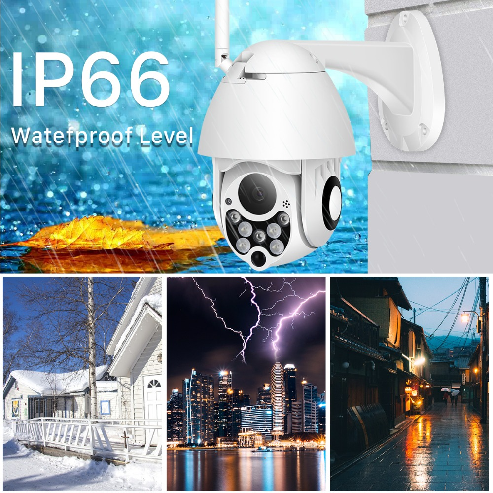 Image 2 - 1080P PTZ 4X Digital Zoom IP Camera Outdoor Speed Dome Wireless Security Camera P2P Cloud CCTV Home Security Wifi Camera BESDER-in Surveillance Cameras from Security & Protection