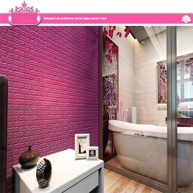 PE Foam 3D DIY Stone Brick Wall Stickers Home Decor Poster Wallpaper ...