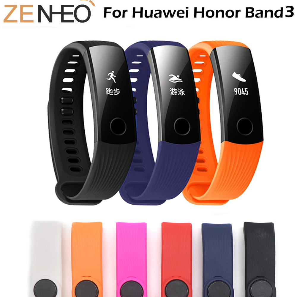 Sports Silicone Strap For Huawei Honor Band 3 smart bracelet Adjustment Band For honor band 3 Watchband belt with Repair ToolSports Silicone Strap For Huawei Honor Band 3 smart bracelet Adjustment Band For honor band 3 Watchband belt with Repair Tool