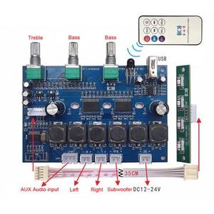 Image 2 - TPA3118 płyta wzmacniacza audio subwoofera 2X30W + 60W HIFI 2.1 kanałowy wzmacniacz cyfrowy Bluetooth 4.2 z U Disk Remote B6 001