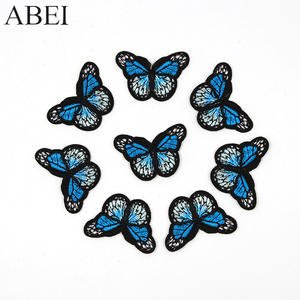 10pcs/lot Embroidered Butterfly Patches Iron Bags Stickers Diy women girl dress appliques Handmade sewing garment accessories(China)