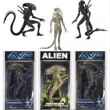 Aliens NECA vs Predator AVP Series figura de acción de Alien, Xenomorph, translúcido, prototipo, traje, muñeco Guerrero Alien, modelo de figura de acción, 18cm