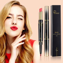 Pudaier Sexy 16 colors 2 In 1 Dual end Lip Liner Pencil Waterproof Lasting Pigments Lipstick Matte Lipliner Pen maquillaje TSLM2