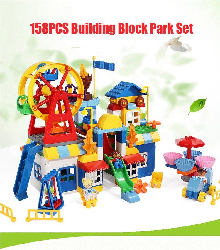 158 pcs Grand Briques Ferris Wheel Amusement Park Pour Creative - Concepteurs et jouets de construction - Photo 6