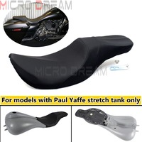 Motorcycle Stretched Tank 2 Up Passenger Seat Cushion For Harley Touring Road King Electra/Street/Road/Tri Glide FLHR FLHT FLTR