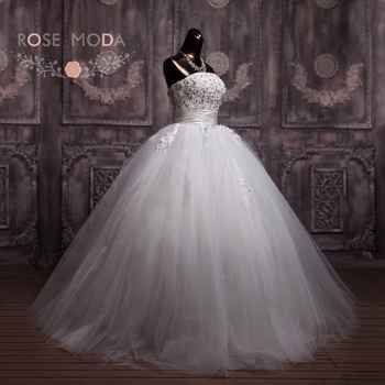 3D Floral Lace Corset Wedding Ball Gown Puffy Princess Wedding Dress Debutante Dress Vestidos de Noiva Real Photos - DISCOUNT ITEM  25% OFF All Category