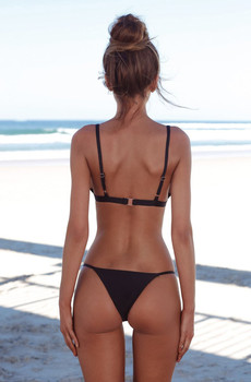 Swimwear Women Black Bikini 2020 Sexy Bikini Push Up Solid Bathing Suit Women Beachwear Swiming Suit Womens Bikinis 2019 Mujer 1