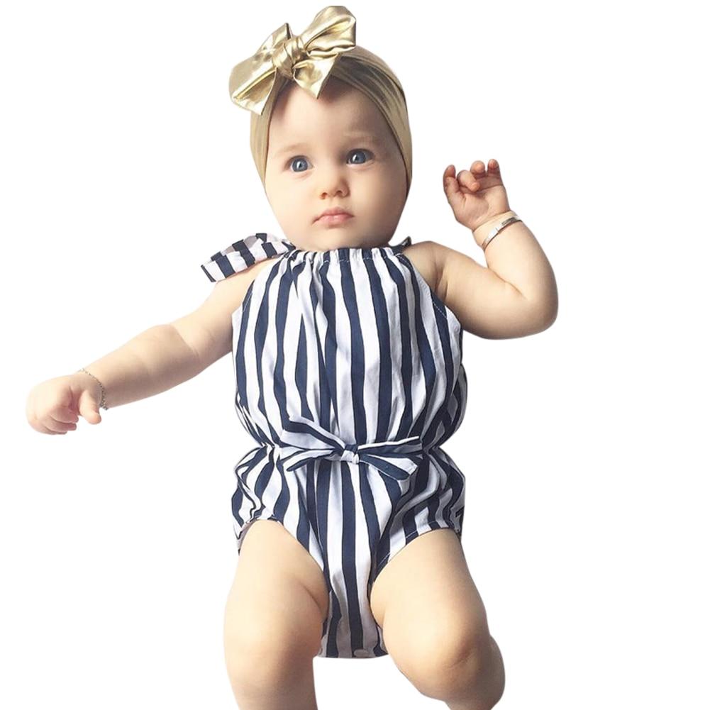 2017 moda de verano recién nacido monos del bebé niños pequeños - Ropa de bebé