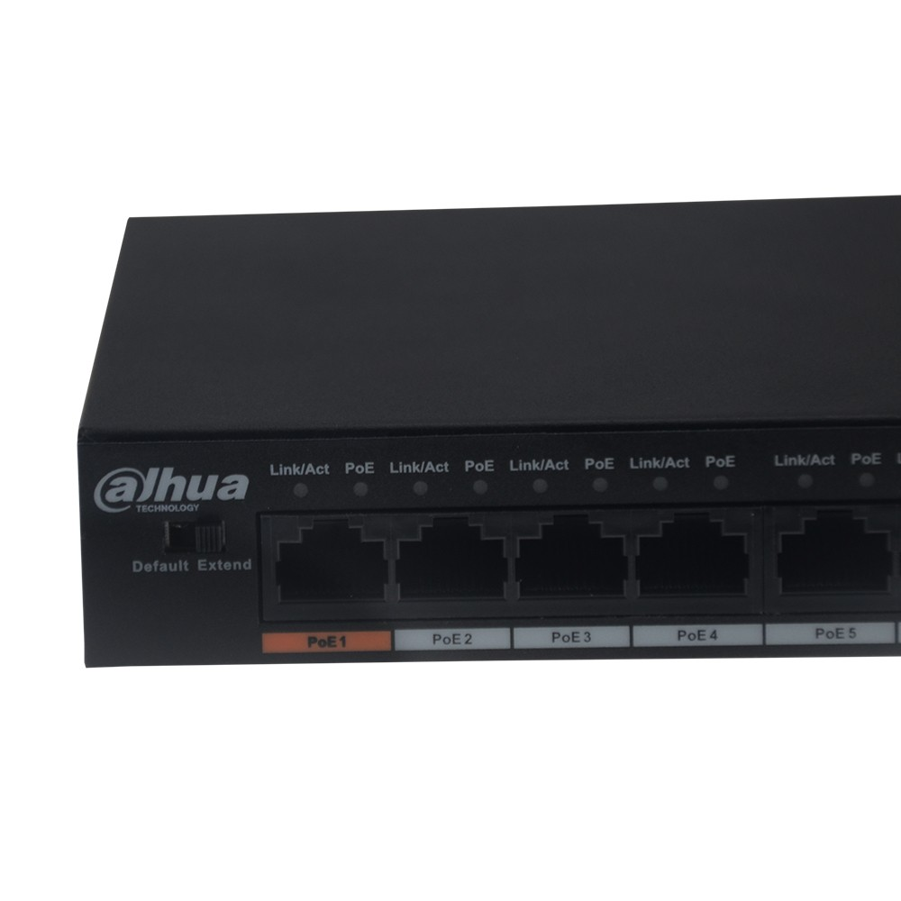 Image 2 - Origina DH PoE Switch DH S1500C 8ET1ET DPWR 8CH Ethernet Power Switch Support 802.3af 802.3at POE POE+ Hi PoE Power With Logo-in Transmission & Cables from Security & Protection