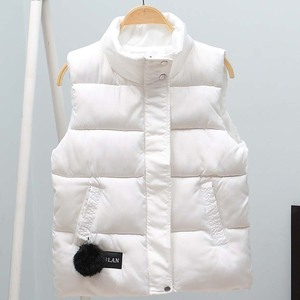 Image 1 - Women Vest Mandarin Collar Sleeveless Short Coat Women Jacket Waistcoat Female Plus Size Chalecos Para Mujer 2020 Autumn Winter
