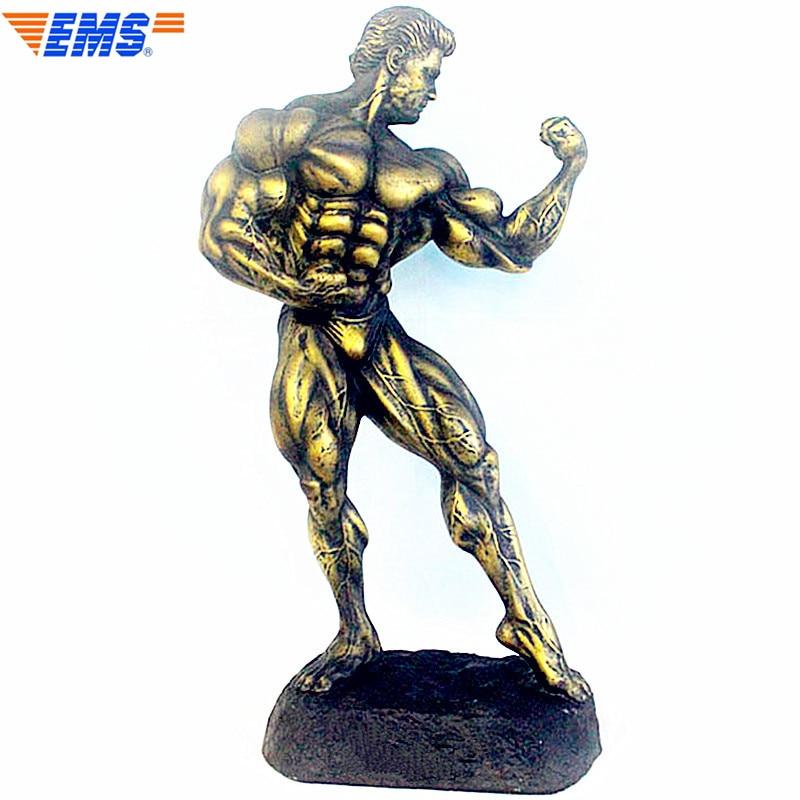 Arnold Schwarzenegger Bust Bolster Trophy Muscle Statue Resin Art Craft Continental Home Decoration Model Ornaments L2690 цена