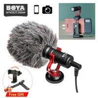 BOYA BY MM1 Phone Video Shotgun Microphone Vlogging Recording Mic for iPhone Nikon Canon DSLR Camera/Smooth 4/DJI Osmo Gimbal