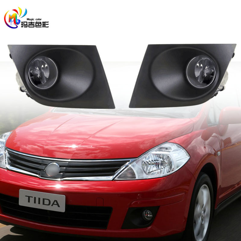 Car Auto Accessories Fog Lamp Light For VERSA Nissan Tiida Fog Light 2009 2010 2011 2012 2013 With Wires Harness Switch