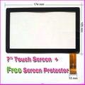 """Бесплатный Пленка + Новый 7 """"irulu expro x1/IRULU X7 Сенсорный Экран Панели Планшета Стекло Датчика Запасные Части Tablet pc Бесплатная доставка"""