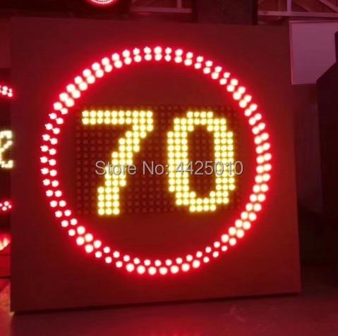 LED Traffic Signage, 30 /40 /50 /60/ 70 /80 /100 /110/120 LED Traffic Speed Limit Sign  LED Highway Speed Limit