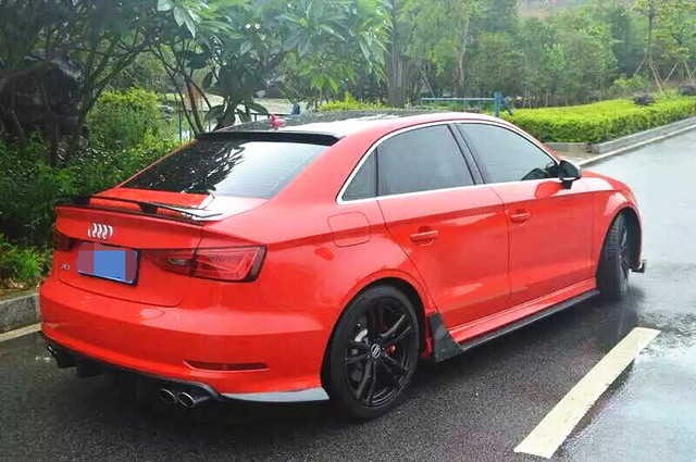 Us 499 0 2014 R Cf S3 Gt Wing Carbon Fiber Gt Spoiler For Audi S3 Including Gt Spoiler Trunk Lip Spoiler Nice Fitment Quality In Spoilers Wings