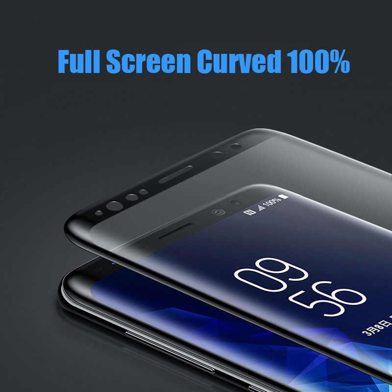 لسامسونج غالاكسي S10 S8 s9 Plus نوت 9 8 واقي للشاشة فيلم منحني لسامسونج S10 زائد S7 S6 حافة زائد فيلم الزجاج المقسى