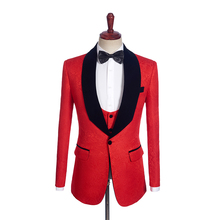 Printed Jacket for 2 Color Man Coat for Man Clothes Custom Made Man jacket Tailor Suit Blazer 1PSc Shawl Lapel blazer