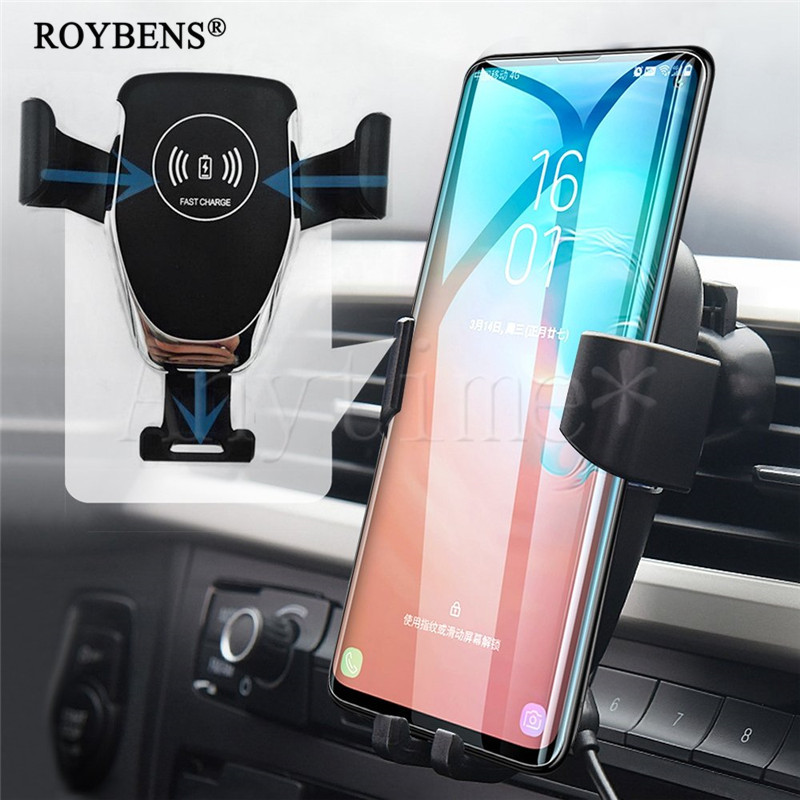 Wireless Charger Car Phone Holder For iPhone Samsung 10W Fast Charge Universal Mobile Phone Stand Smartphone Holder Support