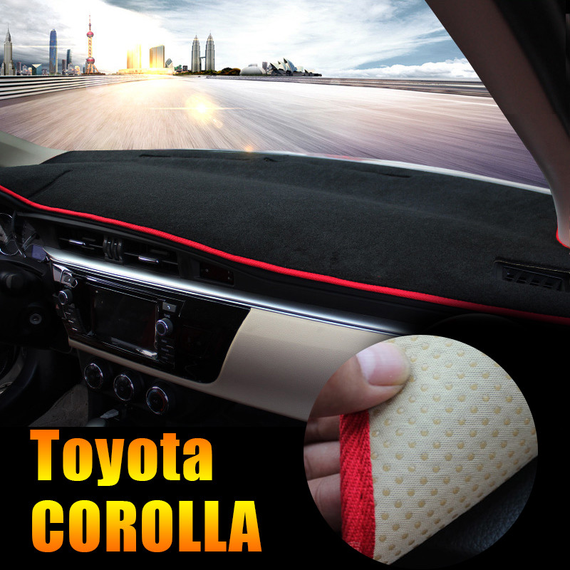Car Dashboard Cover Avoid Light Pad Instrument Platform Desk Cushion Carpet LHD For Toyota Corolla 2014 2015 2016 2017 Accessory dashboard cover