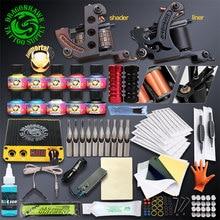 hot deal buy professional complete tattoo kits set tattoo machine power supply 2 guns immortal color inks tattoo supplies
