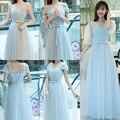 4 Styles Customized Tulle Bridesmaid Dresses Plus Formal Prom Gown Vestidos De Novia Robe Demoiselle D'honneur avondjurken lange