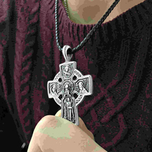 EVBEA Retro Black Crucifix Pendant & Necklace for Men Catholic Religious Cross Jewelry Gifts (2 Chians)